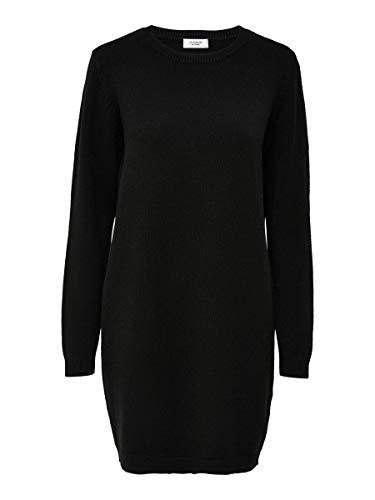 JACQUELINE de YONG Damen Jdymarco L/S Dress Knt Noos Kleid, Schwarz, M EU