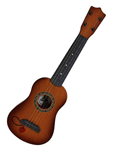 """Shree sai Traders 4-String Acoustic Guitar Learning Kids Toy, Brown 18"""""""