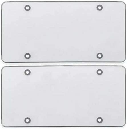 Max 82% OFF CARKEENIH 2Pcs Clear Smoked Flat License Cover Shield Plate Easy-to-use Tin