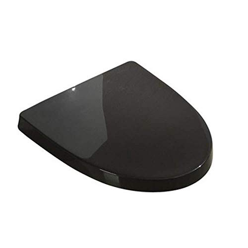 Ldwxxx Asiento de Inodoro Universal, Longitud Ajustable, fácil de Instalar, Asiento de Inodoro for Inodoro en Forma de U (Color : Black)