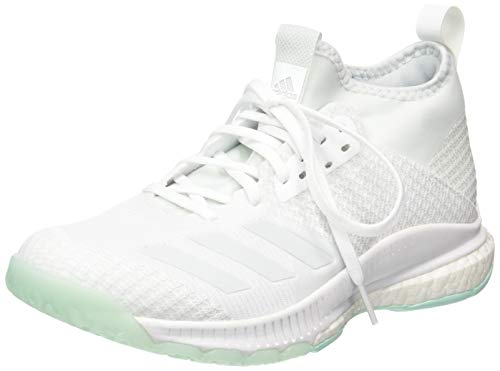 adidas Crazyflight X 2 Mid, Zapatos de Voleibol Mujer, Blanco (FTWR White/Blue Tint S18/Clear Mint FTWR White/Blue Tint S18/Clear Mint), 36 EU