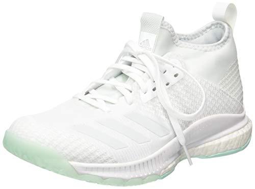 adidas Crazyflight X 2 Mid, Scarpe da Pallavolo Donna, Bianco (Ftwr White/Blue Tint S18/Clear Mint Ftwr White/Blue Tint S18/Clear Mint), 36 2/3 EU