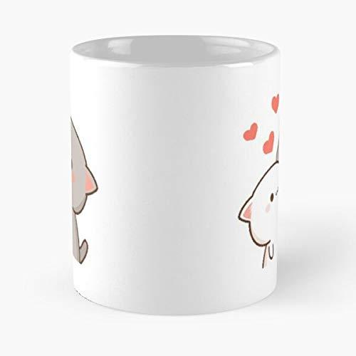Generic Cute Cats - La Meilleure Tasse À Café En Céramique De Marbre Blanc De 11Oz ! ! Personnaliser