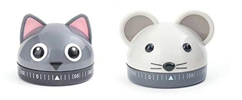 Küche timers-bundle von 2: Katze & Maus Timer von Kikkerland