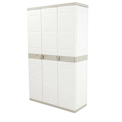 Plastiken 0005675 Titanium Armario, Beig, 105 cm 3 Puertas, 105 cm x 44 cm x 176 cm
