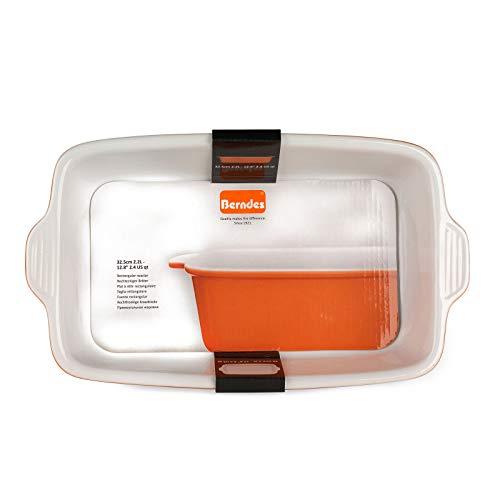 Berndes 1503904 Plat à rôtir rectangulaire en grès Orange 32,5 cm, Céramique, 8 x 32,5 x 19cm