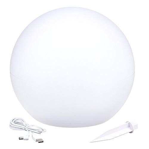 Boule lumineuse solaire flottante à piquer ou à poser LED blanc/multicolore SOLSTY ∅30cm