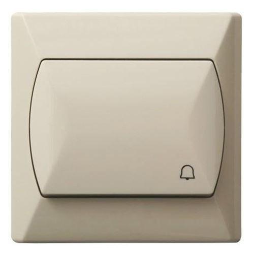 Grote alarmknop, alarmfunctie, basic, schuifdeur, schakelaar, bel, beige