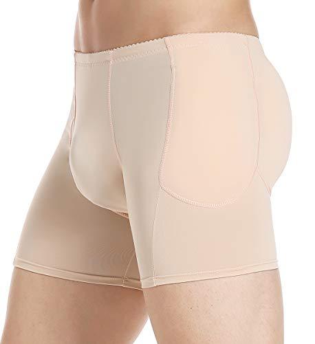 SLIMBELLE® Hombre Boxers con RellenoCalzoncillo Bóxers Ajustado Ropa Interior Erótica con Acolchado Hip-Up Bum Enhancer Padded Buttocks Underwear Levantador de Glúteos