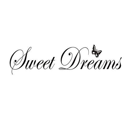 Sweet Dreams Wandtattoos Aufkleber, Abnehmbare inspirierende Zitate Sprüche Worte Wandtattoo Wohnkultur Perfekt für Schlafzimmer Klassenzimmer Wohnzimmer Büro Gym