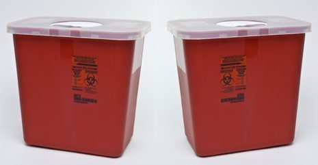buy  Kendall Sharps Container with Rotor Lid – 2 ... Health and Household