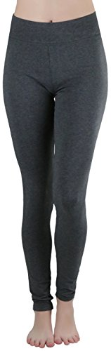 ToBeInStyle Women's Medium Weight Breathable Cotton-Spandex Leggings