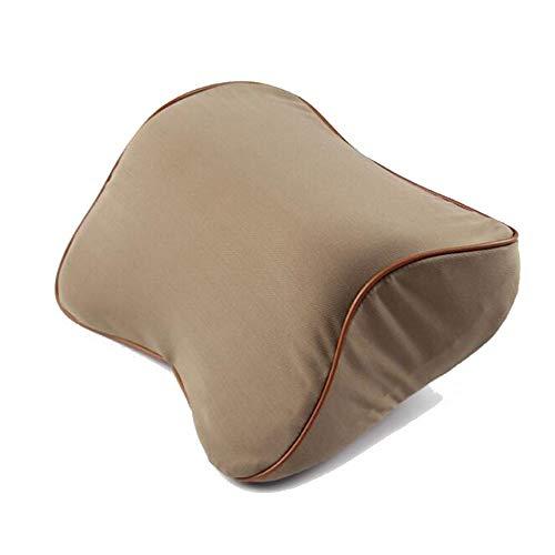 DOMINIC Huaat Almohadilla del Cuello del Asiento de Coche Apoyo for la Cabeza de algodón de Memoria Las Mujeres de los Hombres y de Las Almohada de Cuello (Color : Brown)