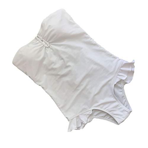 HaiDean Monokini Badeanzug Bikini Frauen Weg Bodysuit Badebekleidung Schulter Modernas Badeanzug Peplum Frill Bademode (Color : Colour, Size : M)