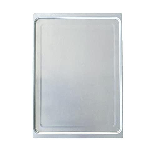 GeKLok Bandeja para hornear, 17 x 12 pulgadas, bandeja para hornear de acero inoxidable profesional, fácil de limpiar, saludable y apto para lavavajillas (tamaño: 43,5 x 31,5 x 0,7 cm)
