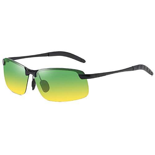 hqpaper Gafas de sol polarizadas que cambian de color, gafas de sol de conducción, montura negra, espejo diurno y nocturno