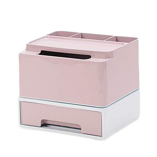 ZTMN Boîte de Rangement cosmétique Coiffeuse Bureau Rouge à lèvres Produits de Soins de la Peau Boîte de Finition Boîte à mouchoirs 21,3 * 18,5 * 18,3 cm (Couleur: Rose)