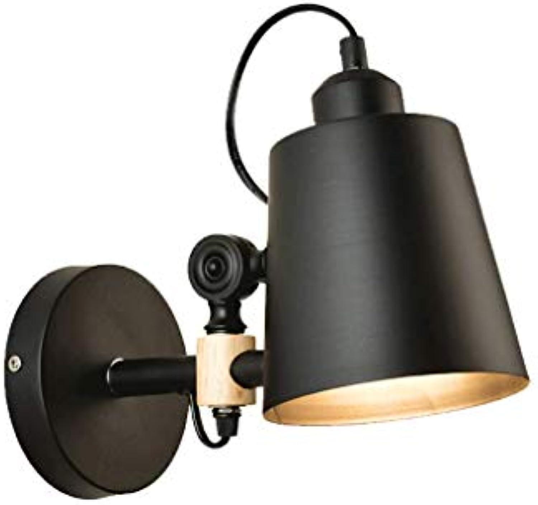 Yan long home wandlampe, Nordic kreative gang balkon wandleuchte Einfache schlafzimmer nachttischlampe holzkunst wohnzimmer wandleuchten im japanischen stil lichter E27 Einstellbares Hngen Wandlampe