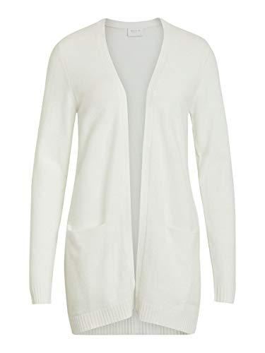 Vila Damen Viril L/S Open Knit Cardigan-noos Strickjacke, White Alyssum, L