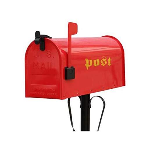 Cassetta Postal American Mailbox Pole Letter Box Decoration Photography Puntelli Cilindro per Posta 17 * 48 * 21.8cm (Colore : Black Rod)