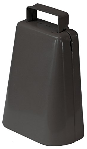 """RanchEx 102378 Kentucky Cow Bell 0K for Livestock & Events - Tan Powder Coated 6-1/2"""" Height"""