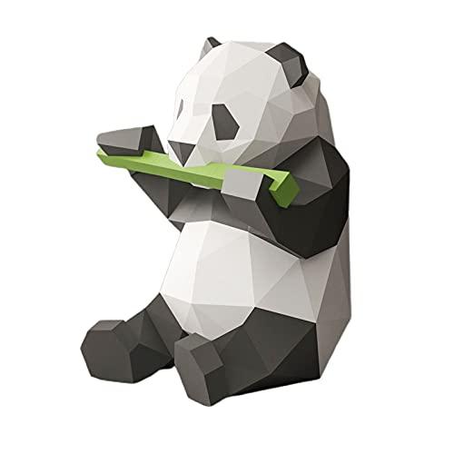 non_brand Dibujos Animados Hechos a Mano 3D Papel Panda Modelo Tarjeta Papel Decoración Rompecabezas Juguetes