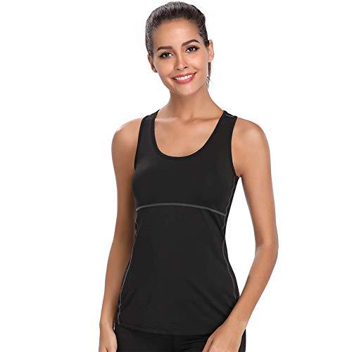 Joyshaper Sporttop Damen Yoga Tanktop Slimming Training Shirt Quick Dry Kompression Fitness Oberteile für Fitness Joggen oder als Alltägliche Sommer Kleidung