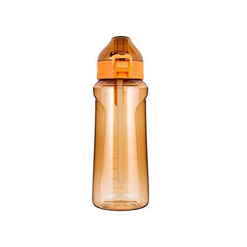 Botella De Deportes De Plástico 1100 Ml La Botella De Agua Reutilizable Es Adecuada para La Oficina De Yoga Y Fitness No Tóxico Y Sin Sabor.(Color:Naranja)