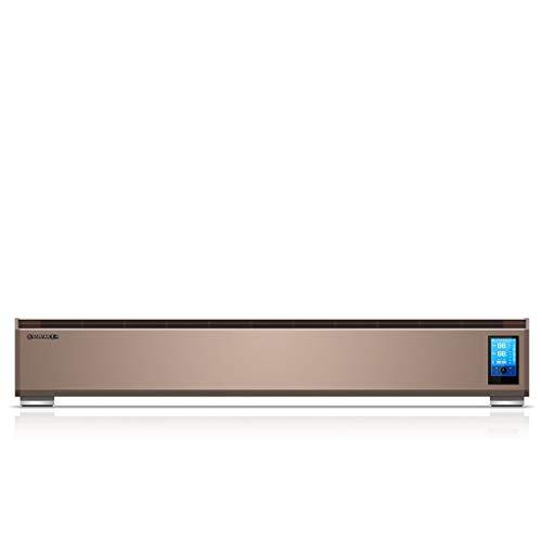 Voetlijstverwarming elektrische kachels voetbalverwarming intelligente thermostaat slaapkamer elektrische verwarming radiator kantoor convector convectoren 1.52m goud