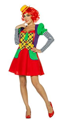 Karneval-Klamotten Clown Zirkus Kostüm Damen bunt