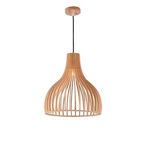 YANGDONG-Luz de cristal de estilo industrial creat Luces colgantes de techo japonesa Lámpara de colgante ajustable de madera Personalidad Creativa Restaurante Suspensión Iluminación Luminaria Nordic B