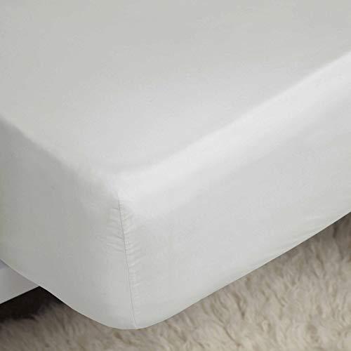 Jansons Direct Linens en Velours écrasé Lit en Taille Lit King Size Lit Taille en Oyster 40 cm de Profondeur
