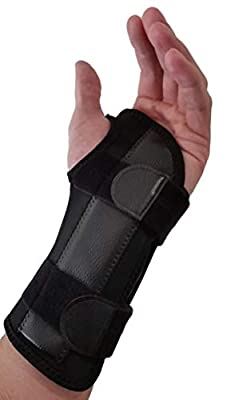 Carpal Tunnel Wrist Brace Night Support - Wrist Splint Arm Stabilizer & Hand Brace for Carpal Tunnel Syndrome Pain Relief with Compression Sleeve for Forearm or Wrist Tendonitis Pain (Left)