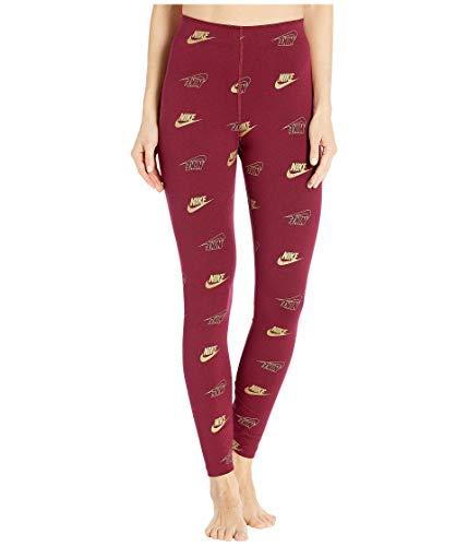 Nike NSW Allover Print Legging Shine Pantalons, Team Red, XS pour Femmes