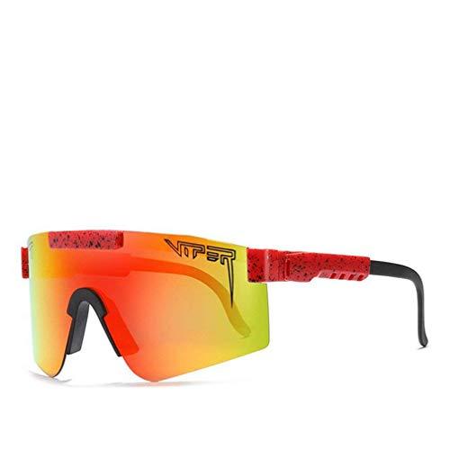 PANDA100 Gafas de sol Pit Viper, Gafas de protección para ciclismo Tr90 Frame Gafas de protección UV400 para hombres y mujeres (C9)