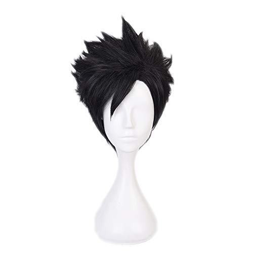 AICWDIVA Anime Haikyuu!! Kuroo Tetsurou Cosplay Wigs Heat Resistant Synthetic Hair Short Black Men's Cosplay Wig (Tetsurou Kuroo)