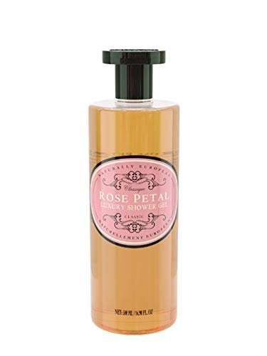 Naturally European Luxury Rose Petal Organic Body Wash - 500ml | No SLS and Parabens | Cleansing and Moisturising Lotion Shower & Bath Gel | For Men and Women