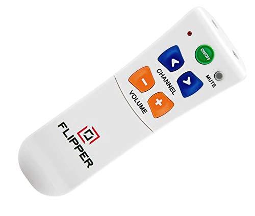 SccKcc - Telecomando per TV con ampio pulsante per anziani - universale e facile da leggere, canali preferiti proprietari, supporto...