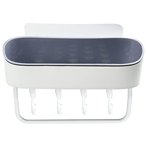 1 Stück Aufbewahrung Dusche Ablage, Badregal Wandregal Prägnant Duschablage mit Saugnapf Ohne Bohren für Shampoo Duschgel, Wandregal Küche Organizer