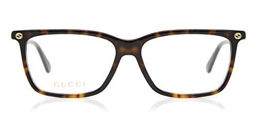 Gucci Unisex – Erwachsene GG00940-007-54 Brillengestell, Havana, 54