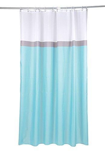 Ushuaia Rideau DE Douche Textile 180x200CM 3 Couleurs - Motif UNI, 100% Polyester, Bleu