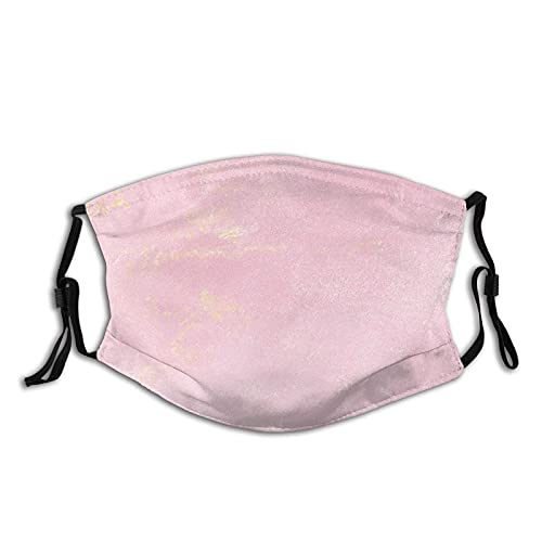 Masque bandana en tissu avec ballons roses - Lavable et réutilisable - Avec filtre - Pour adultes et enfants