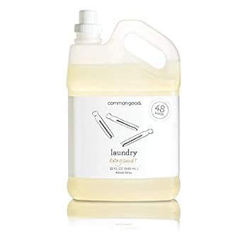 Common Good - Laundry Detergent Plant-Based Ingredients Enzymes for Powerful Stain Removal and Readily Biodegradable Leaping Bunny Certified 48 Loads  Bergamot Scent 32 ounces