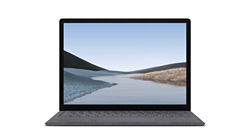 Microsoft Surface Laptop 3 (Windows 10, écran tactile 13', Intel Core i5, 8Go RAM, 128Go SSD, Platine, finition Alcantara, clavier AZERTY français) L'ordinateur portable fin, léger & performant