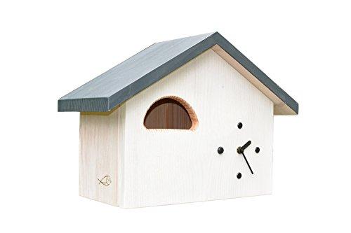 vogelzeit Gartenuhr, Nistkasten, NKU-b120-ws für das Rotkehlchen, Hausrotschwanz
