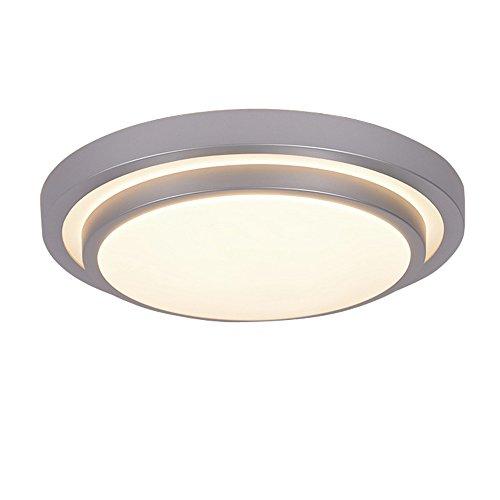ZHMA 12W Einbau Deckenleuchte, LED Deckenleuchte, Pinsel Aluminium Deckenleuchte, moderne wasserdichte LED-Panel Licht, warmweiß, hell
