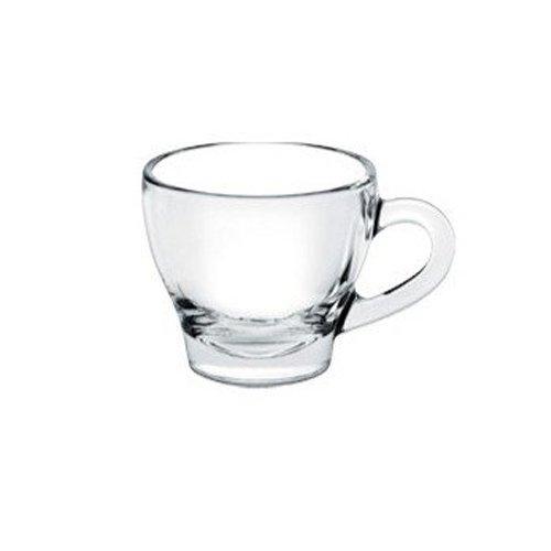 BORGONOVO Confezione di 6 Bicchierini tazzine con Manico Bar caffè Ischia Vetro Trasparente