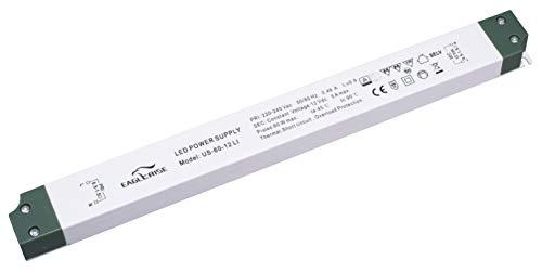HuaTec Eaglerise LED Trafo 12V 15W 30W 60W 100W Ultra Slim Flach für LED Streifen Möbeleinbau Konstantspannung LED Netzteil Driver Treiber Transformator super thin (60W 12V)