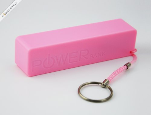 (Rosa) 2600mAh POWER BANK cargador de batería externo USB Power Bank para...