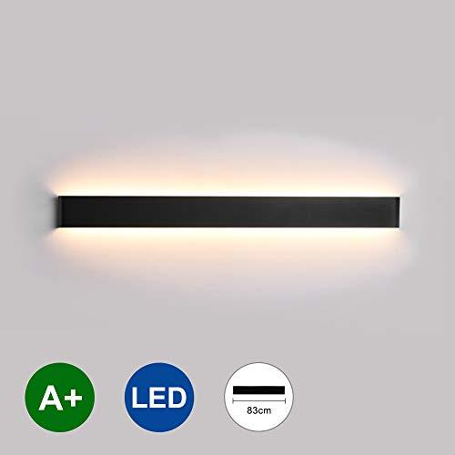 K-Bright LED Spiegelleuchte 32 zoll,2700K-3000K Warmweiß,30W Wandlampe Wandleuchte Modern Schwarz Dekorative Licht Badlampe,wasserdicht IP44 Aluminium,Abstrahlwinkel 120°
